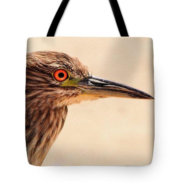 Black Crowned Night Heron 4 Tote Bag by Bob and Nadine Johnston