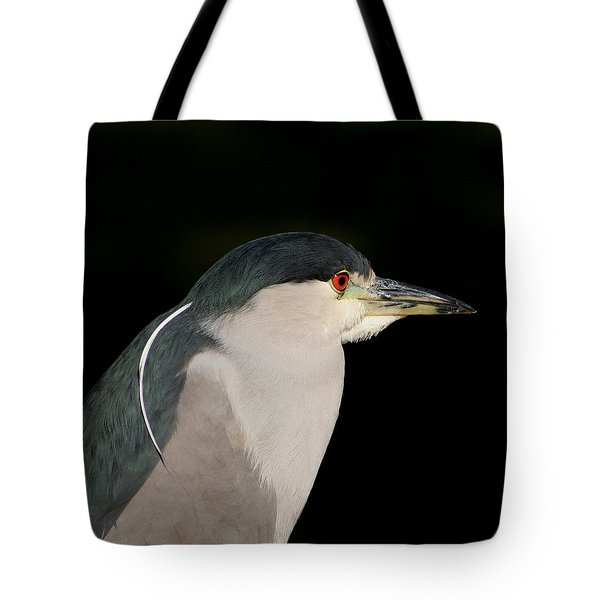 Tote Bag featuring the photograph Black-crowned Night Heron by Bob and Jan Shriner