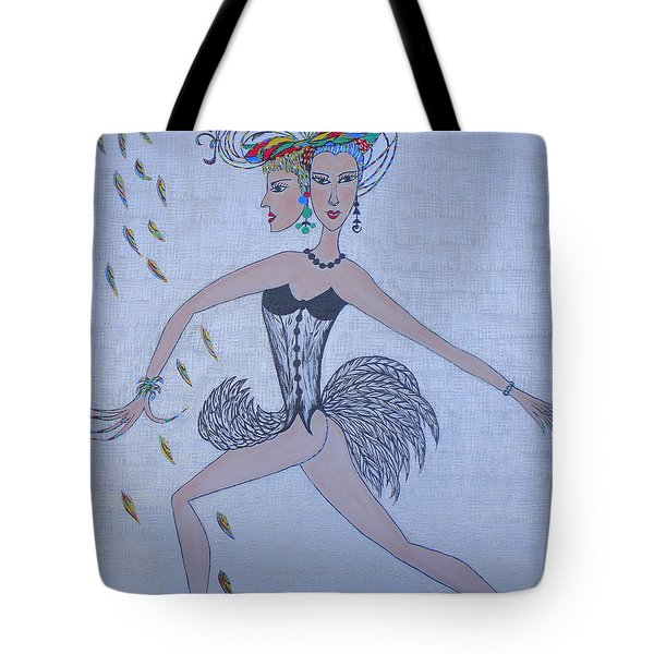 Tote Bag featuring the painting Black Dahlia by Marie Schwarzer