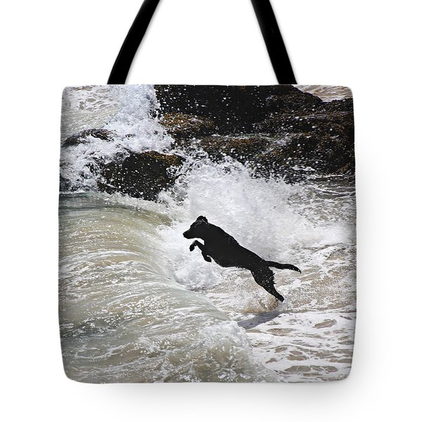 Black Dog Tote Bag