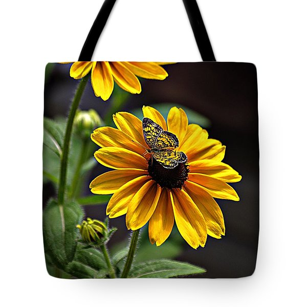 Black-eye Susan With Butterfly Tote Bag