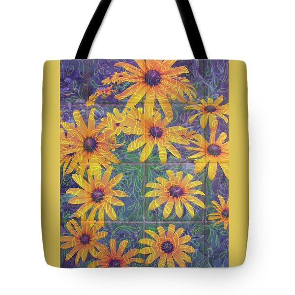 Tote Bag featuring the photograph Black-eyed Susan Squared by Brooks Garten Hauschild