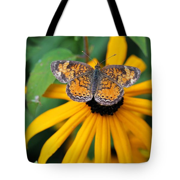 Black Eyed Susan With Butterfly Tote Bag