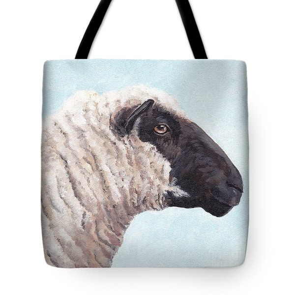 Black Face Sheep Tote Bag by Charlotte Yealey
