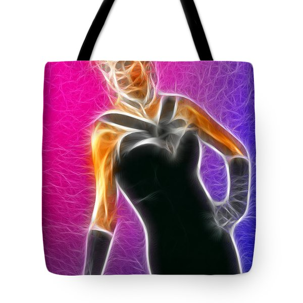 Black Formal Fractal Tote Bag by Gary Gingrich Galleries