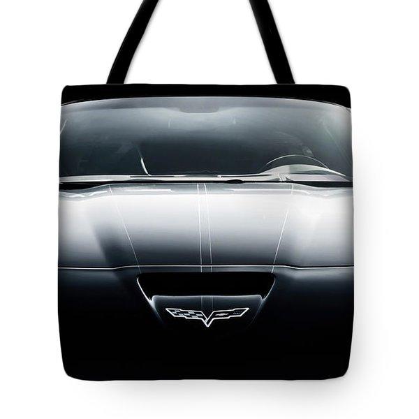 Black Grand Sport Corvette Tote Bag