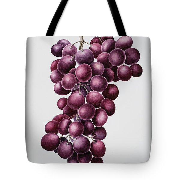 Black Grapes Tote Bag by Sally Crosthwaite