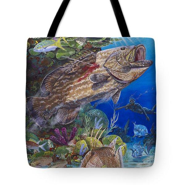 Black Grouper Hole Tote Bag