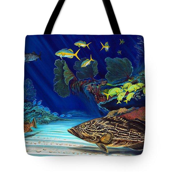 Black Grouper Reef Tote Bag