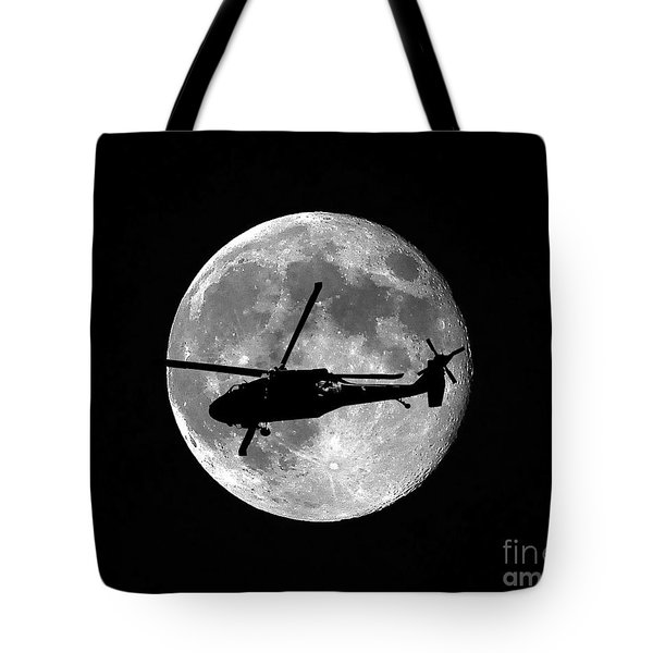 Black Hawk Moon Tote Bag