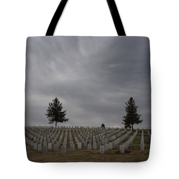 Black Hills Cemetery Tote Bag by Suzanne Lorenz