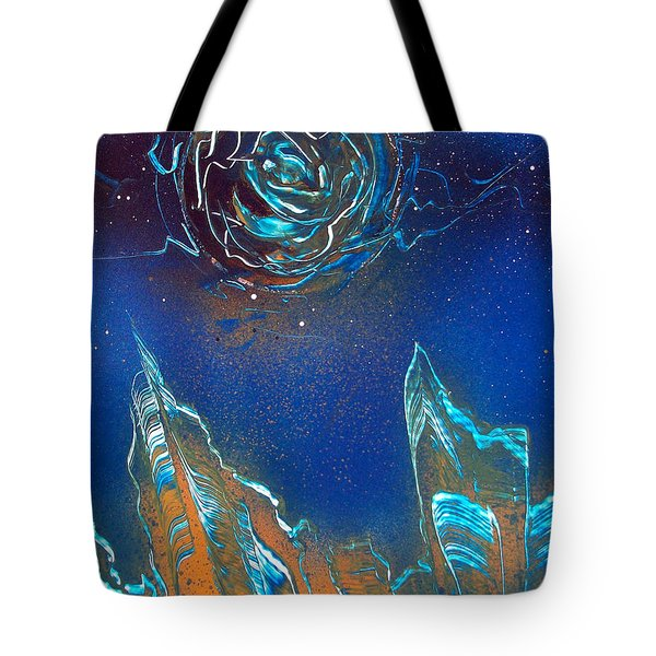 Tote Bag featuring the painting Black Hole by Jason Girard