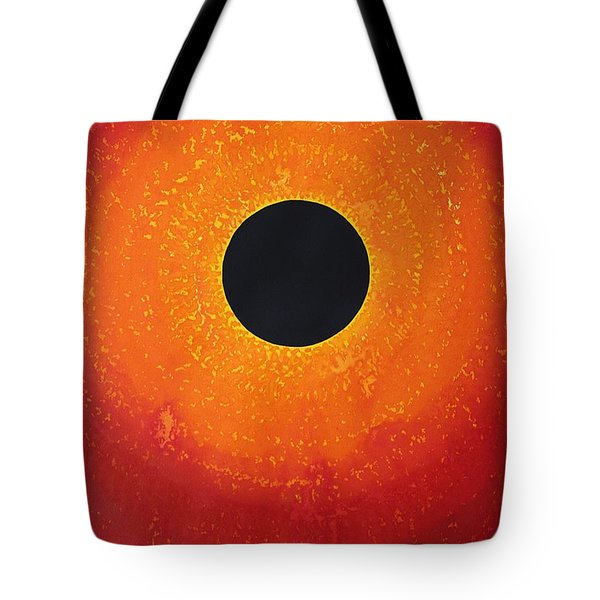 Black Hole Sun Original Painting Tote Bag
