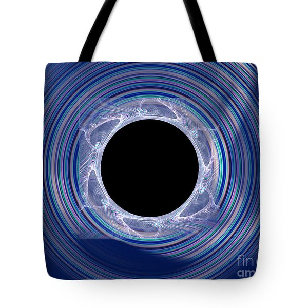 Tote Bag featuring the digital art Black Hole by Victoria Harrington