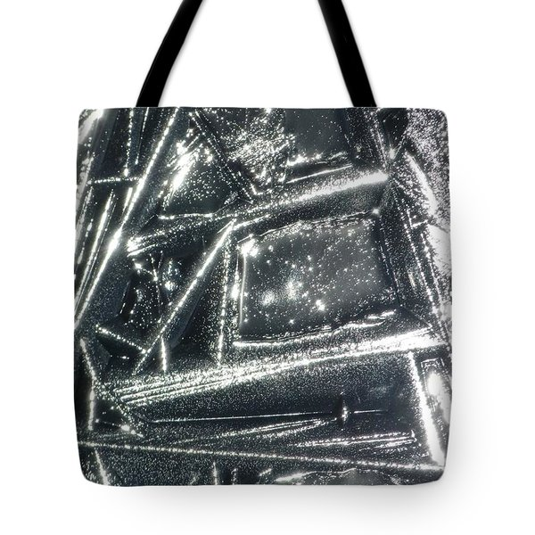 Tote Bag featuring the photograph Black Ice by Jane Ford