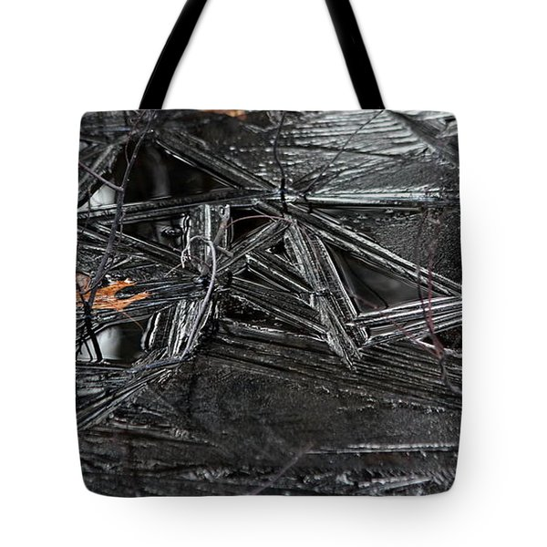 Black Ice Tote Bag by Kenny Glotfelty