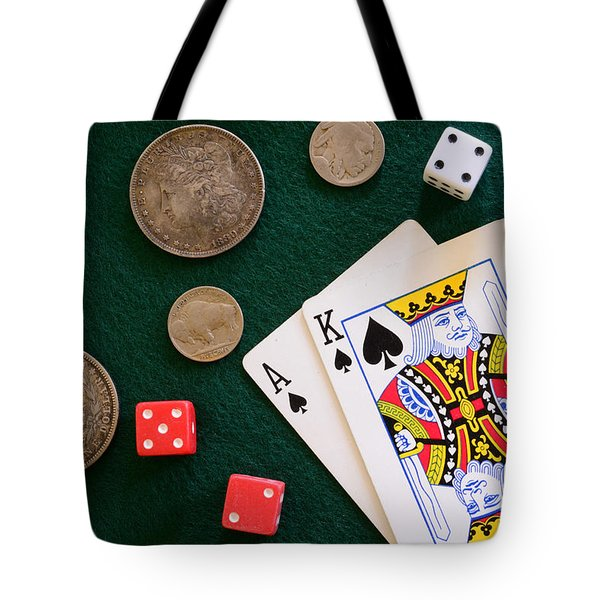 Black Jack And Silver Dollars Tote Bag by Paul Ward