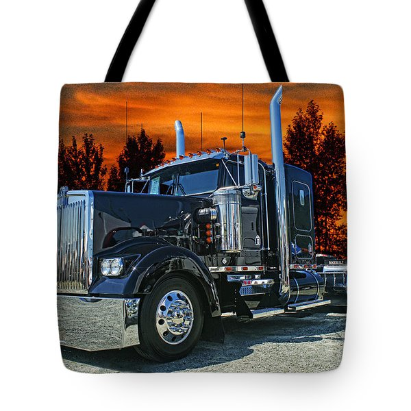 Black Kenworth Tote Bag