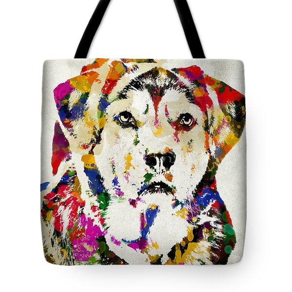 Black Lab Watercolor Art Tote Bag by Christina Rollo