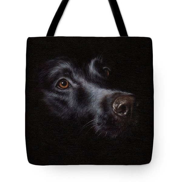 Black Labrador Painting Tote Bag