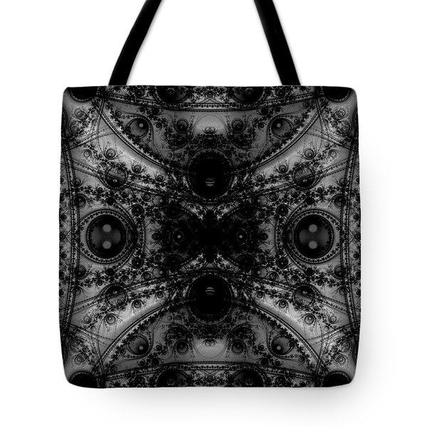 Black Lace Tote Bag by Ester  Rogers