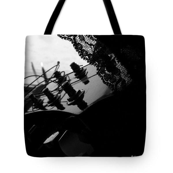 Black Lace Valentine Tote Bag by Barbara St Jean