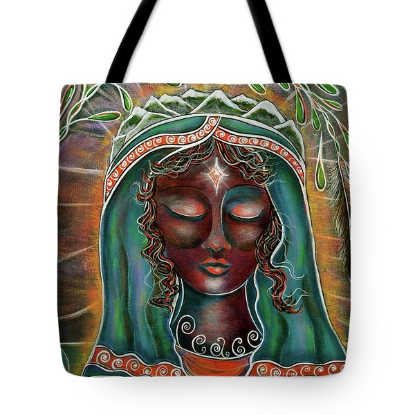 Black Madonna Tote Bag by Deborha Kerr