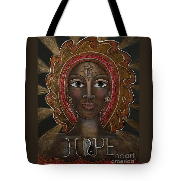 Black Madonna - Hope Tote Bag by Deborha Kerr