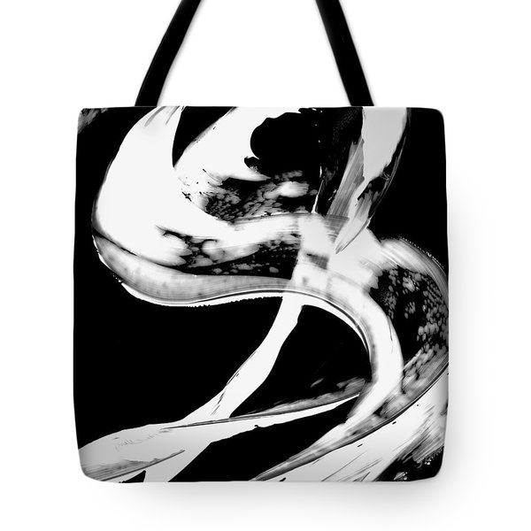 Tote Bag featuring the painting Black Magic 307 Inverted by Sharon Cummings
