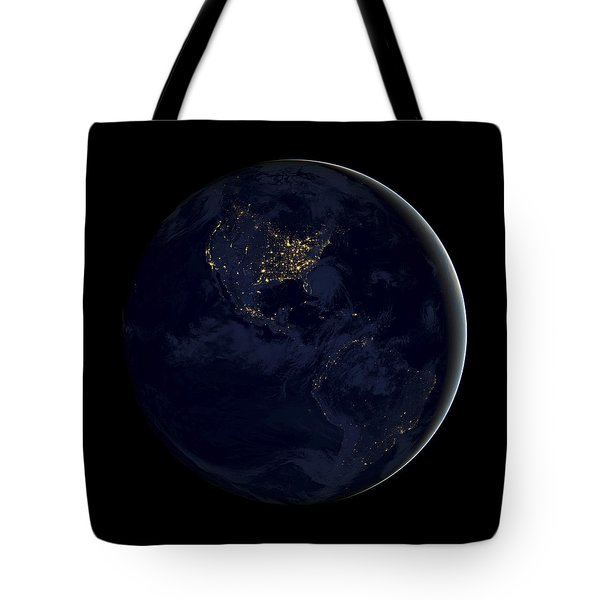 Black Marble Tote Bag by Adam Romanowicz