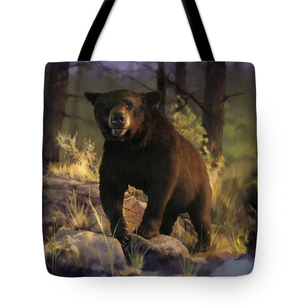 Tote Bag featuring the painting Black Max by Rob Corsetti