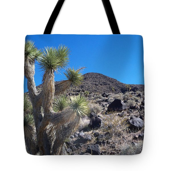 Tote Bag featuring the photograph Black Mountain Yucca by Alan Socolik