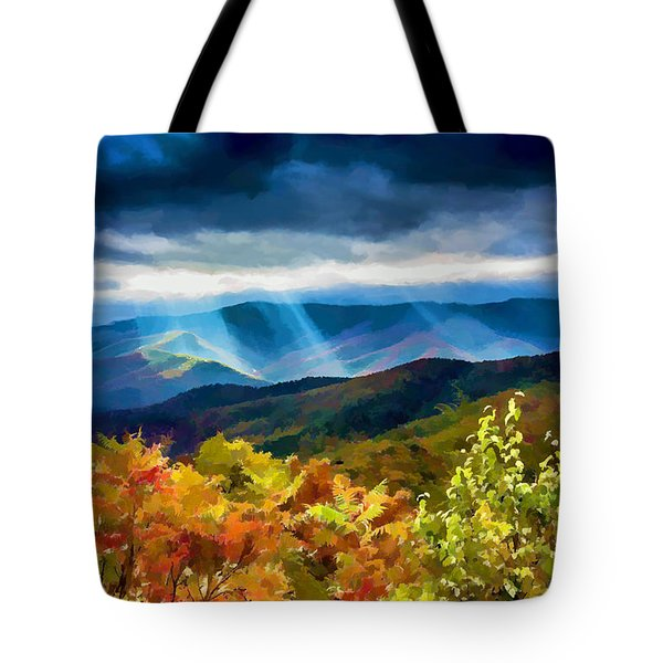 Black Mountains Overlook On The Blue Ridge Parkway Tote Bag