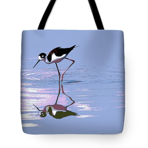 Tote Bag featuring the photograph Black Neck Stilt by Tom Janca