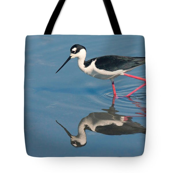 Tote Bag featuring the photograph Black-necked Stilt - Huntington Beach California by Ram Vasudev