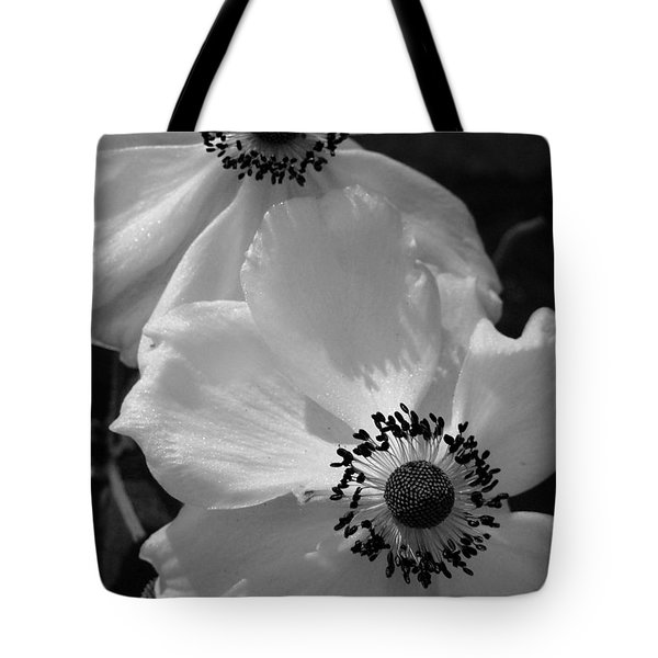 Tote Bag featuring the photograph Black On White by Cheryl Hoyle
