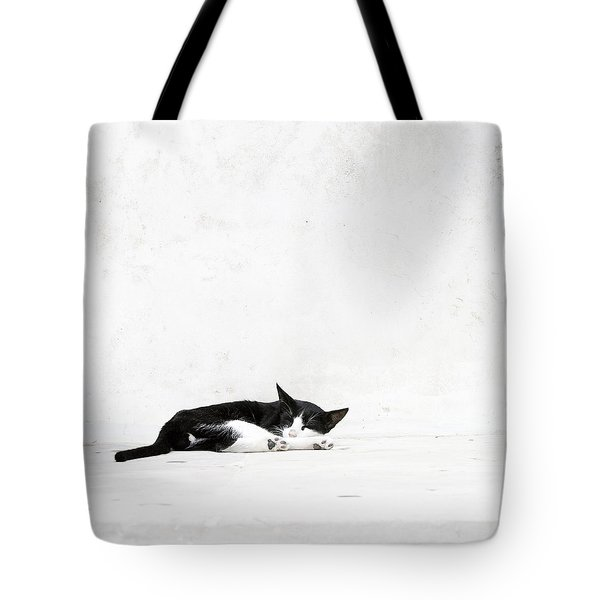 Tote Bag featuring the photograph Black On White by Lisa Parrish