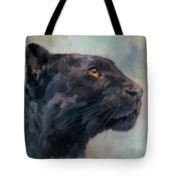 Black Panther Tote Bag by David Stribbling