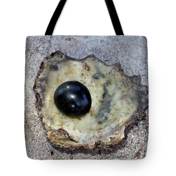 Tote Bag featuring the photograph Black Pearl by Sergey Lukashin