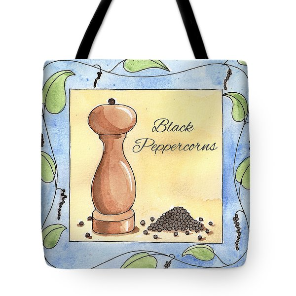 Black Peppercorns Kitchen Art Tote Bag by Christy Beckwith