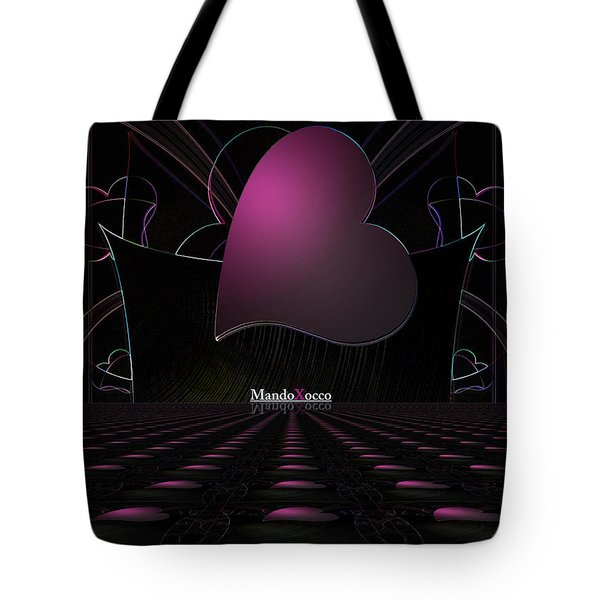 Black Pink Luv Line Tote Bag