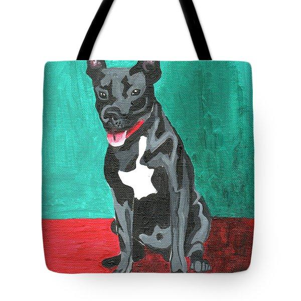 Black Pit Bull Terrier Tote Bag