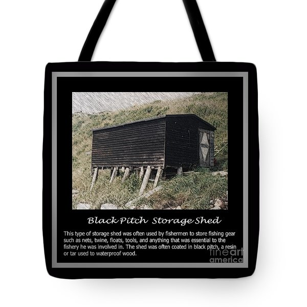 Black Pitch Storage Shed Tote Bag by Barbara Griffin