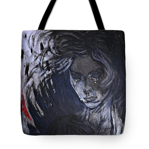 black portrait 16 Juliette Tote Bag