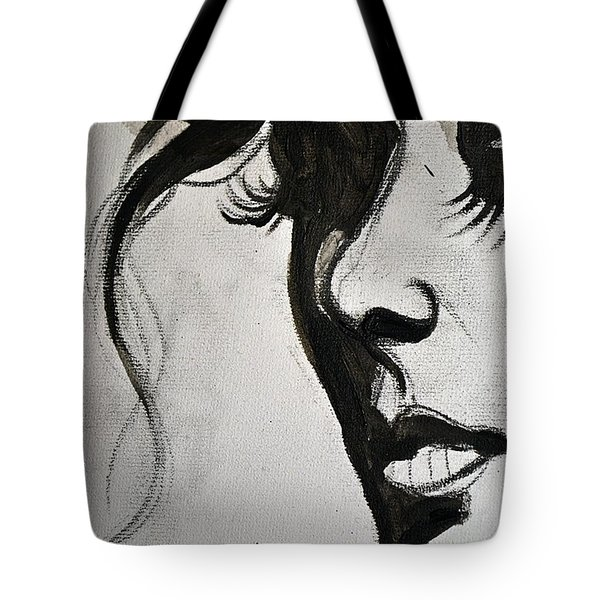 Black Portrait 16 Tote Bag