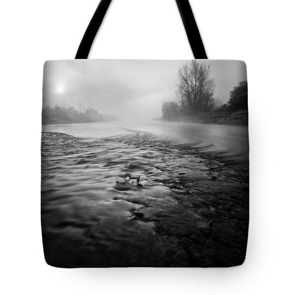 Black River Tote Bag by Davorin Mance