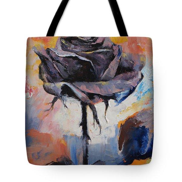 Black Rose Tote Bag