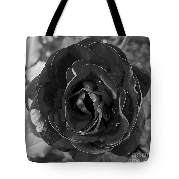 Tote Bag featuring the photograph Black Rose by Nina Ficur Feenan
