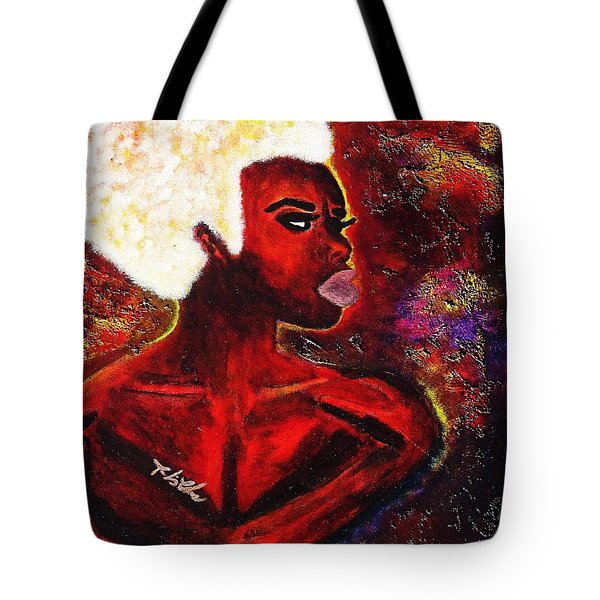 Tote Bag featuring the painting Black Rose by Tarra Louis-Charles