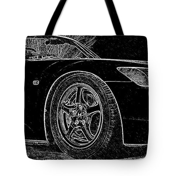 Black S2000 Tote Bag by Eric Liller
